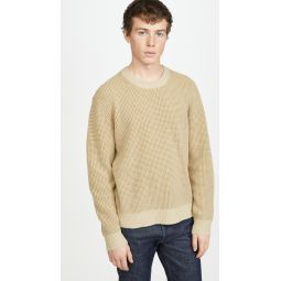 Cashmere Waffle Crew Sweater