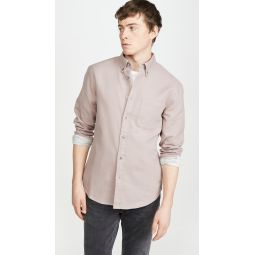 Solid Double Face Button Down