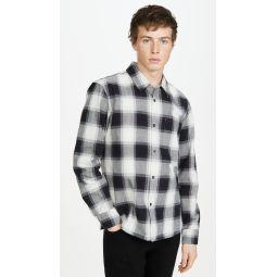 Long Sleeve Ombre Plaid Shirt