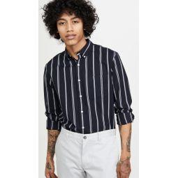 Long Sleeve Slim Button Down Chelsea Striped Shirt
