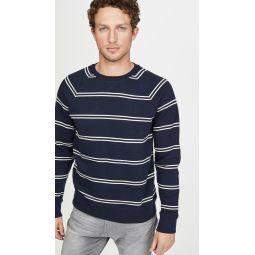 Long Sleeve Double Stripe Sweatshirt