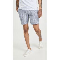 Baxter Surfboard Print Shorts