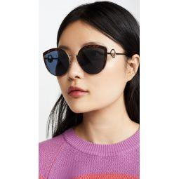Logo Trim Cat Eye Sunglasses