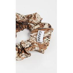 Printed Cotton Poplin Scrunchie