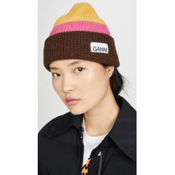 Knit Striped Beanie Hat