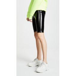 Downtown Patent Biker Shorts