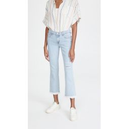 Selena Mid Rise Crop Boot Jeans