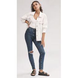 1212 Runway High Rise Slim Straight Jeans