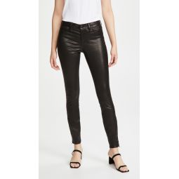 Mid Rise Skinny Leather Pants