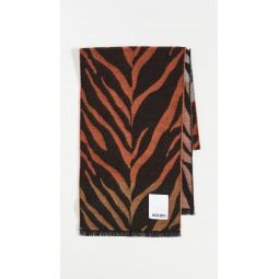 Tri Color Tigers Stripe Jacquard Scarf