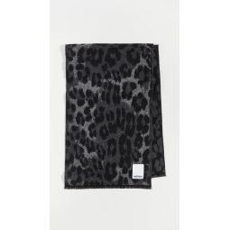 Leopard Wool Jacquard Scarf