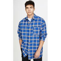 Brushed Cotton Check Long Sleeve Shirt