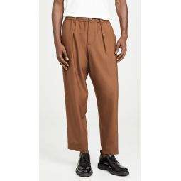 Tropical Wool Carrot Fit Trousers