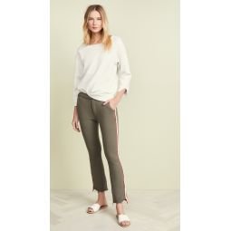 The Lounger Insider Crop Step Fray Pants