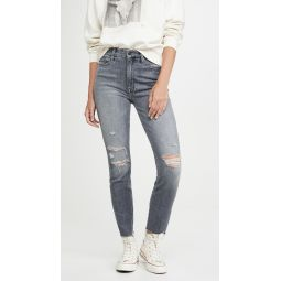 High Waisted Looker Ankle Nick Fray Jeans