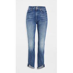 High Waisted Rascal Ankle Slit Flip Jeans