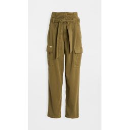 Greaser Paperbag Pleated Cargo Ankle Pants
