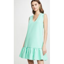 Drop Ruffle Waist Shift Dress
