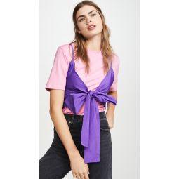 Tie Front T-Shirt Blouse