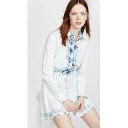 Denim Collared Shirt Dress