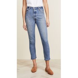 x Levis High Rise Ankle Crop Jeans