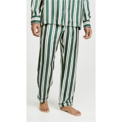 Striped Silk Twill Henry PJ Bottoms