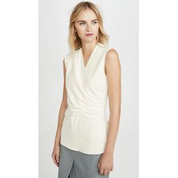Shirred Flap Sleeveless Top