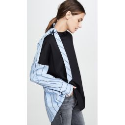Tie Neck Shirting Top