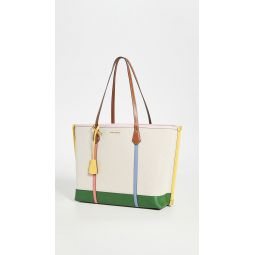 Perry Canvas Triple Compartment Tote