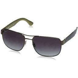 Ray-Ban Mens RB3528 Square Metal Sunglasses