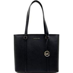 Michael Kors Medium Sady Carryall Bag (Black) With Gold Tone Hardware