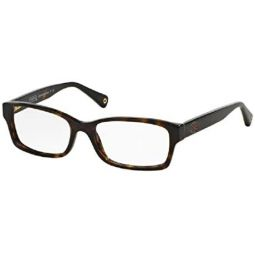 Coach HC6040 BROOKLYN 5001 52M Dark Tortoise Rectangle Eyeglasses For Women+FREE Complimentary Eyewear Care Kit