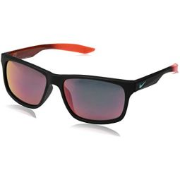 Nike EV0998-085 Chaser M Frame Grey with Mercury Mirror Lens Sunglasses, Matte Black/Hyper Orange Prism