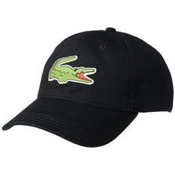 Lacoste Mens Big Croc Twill Adjustable Leather Strap Hat