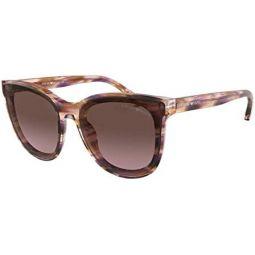 Emporio Armani EA4125F 57169T Violet EA4125F Oval Sunglasses Lens Category 2 Si