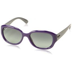 Ray Ban RB4198 Sunglasses-604671 Opal Violet (Gray Gradient Lens)-55mm