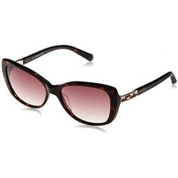 Swarovski SK0124 52F Havana SK0124 Oval Sunglasses Lens Category 2 Size 56mm