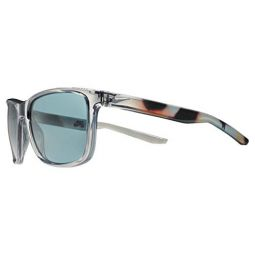 Nike Mens Unrest Se Rectangular Sunglasses Crystal Wolf Grey/Barcelona 57 mm