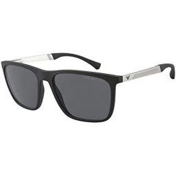 Emporio Armani EA 4150 Black/Grey 59/18/145 men Sunglasses