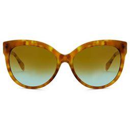 Michael Kors PORTILLO MK2083 Sunglasses 33395D-57 - Amber Tort Frame, Brown Blue MK2083-33395D-57