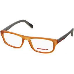 Prada Unisex 0PS 06GV Transparent Orange Rubber One Size