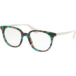 Prada PR13UVF - KJJ101 Eyeglasses STRIPED GREY/GREEN W/ DEMO LENS 52