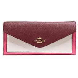 COACH Womens Soft Wallet In Color block Confetti Pink Multi