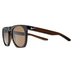 Nike Mens Flatspot P Polarized Round Sunglasses, Brown, 52 mm