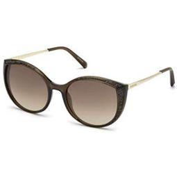 Swarovski Womens SK0168 Cateye Sunglasses