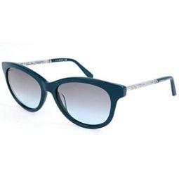 Swarovski sunglasses (SK-0132-S 98B) Dark Green - Glitter Silver - Grey Gradient lenses