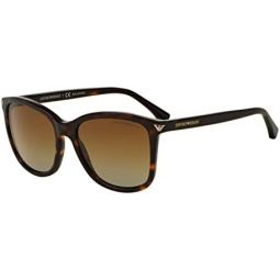 Armani EA4060F Sunglasses 5026T5-56 - Havana Frame, Polar Brown Gradient