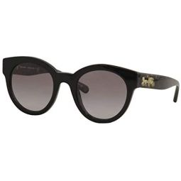 Coach Woman Sunglasses, Black Lenses Acetate Frame, 51mm