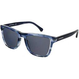 Emporio Armani EA4126F 572887 Blue EA4126F Rectangle Sunglasses Lens Category 3