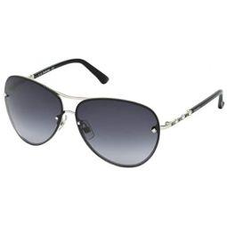 Swarovski Crystal Authentic Fascinatione Sunglasses SK0118 17B, Black - Trendy UV Protection Eyewear - Fashion and Travel Accessory